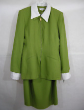 Dress Jacket Blazer Set Suits Career Work Formal Wedding Green 14 Lew Magram