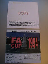 1994 F.A. Cup Final Ticket Manchester United v Chelsea mint condition.