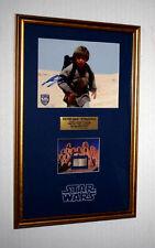 """STAR WARS Prop """"TATOOINE"""" LUKE HOME, Signed JAKE LLOYD, Blu Ray DVD, COA, UACC"""