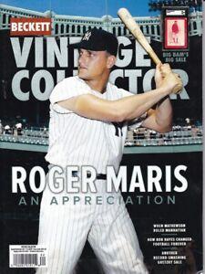August/September 2021 Vintage Collector Beckett Price Guide Roger Maris