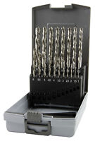 RUKO 19pcs. HSS Left Handed Drill Bits Set 1-10.0mm HIGH QUALITY Made in GERMANY