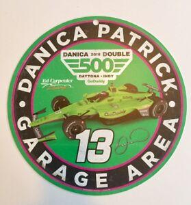 "2018 Danica Patrick Daytona / Indy 500 ""Danica Double"" Garage Sign Go Daddy"