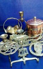 Job Lot of 9 Vintage Brass Ornaments b038