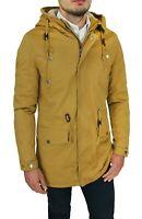 Giaccone Parka uomo casual beige cammello giacca Invernale con pelliccia interna