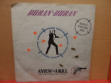 """Duran Duran - A View to a Kill 7"""" 45 Single LC 0542 Picture Sleeve EEC Pressing"""