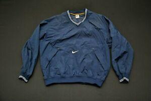 VTG Nike Windbreaker Jacket Blue Men's Large L Baseball