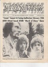 FEB 23 1968  - KFXM TIGER RADIO 590 music magazine CREAM