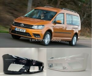 VW Caddy IV 2015- PDC/SRA STOßSTANGE Stoßfänger VORN LACKIERT IN WUNSCHFARBE NEU