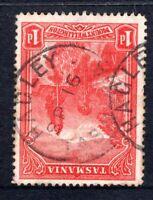 Tasmania nice HAGLEY postmark (type 1) on 1d pictorial rated V/C (1)