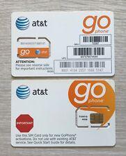 New At&T Att Go Phone Sim Card Regular Size. Sku 6006A