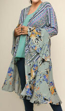 Nwt FUNKY STUFF floral patch rayon ROBE TOP DUSTER COVERUP 3X 30W Free shipping