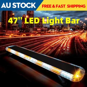 47'' 88 LED Truck Light Bar Beacon Emergency Warning Strobe Amber Light Lamp