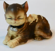 Vintage Figurine Sleeping Cat & Mouse Josef
