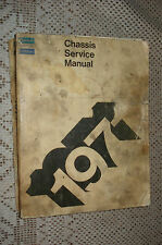 1971 PLYMOUTH CHRYSLER SHOP MANUAL ORIGINAL CHASSIS SERVICE BOOK