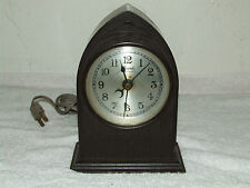 "Antique 1920's Gothic Cathedral ""Spin Start"" Bakelite Clock Royal Electric Co."