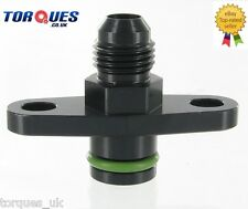 AN -6 (-6 JIC) Fuel Rail Adapter For Mitsubishi Lancer Evo 1-9 and 3000GT BLACK