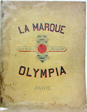 1912 CYCLE OLYMPIA VELO AUTO FOURNITURE ACCESSOIRE PHARES INSIGNES CORNET SELLE