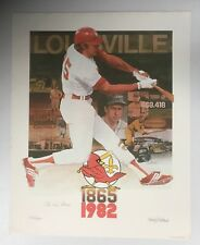 1982 Louisville Redbirds Litho Signed By Artist Andy Buttram + Pee Wee Reese