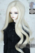 "6-7"" 1/6 BJD Doll Dollfie Wig Blonde Curly Wave Hair Long Luts DZ DOD SD MSD UAL"