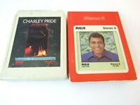 Lot of 2 Charlie Pride 8 Track Tapes Heart Songs and In Person