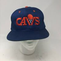 Vintage Cleveland Cavaliers Drew Pearson Mens Snapback Cap Hat Blue Embroidered