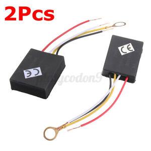 2Pcs 3 Way 220V Touch Control Sensor Switch Kit For Desk Light Dimmer Lamp Part