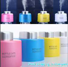 2× USB Portable Mini Water Bottle Caps Humidifier Air Diffuser Mist and Purify