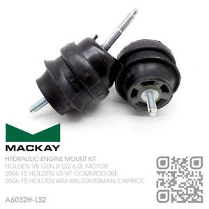 MACKAY ENGINE MOUNT SET V8 GEN IV LS2 6.0L MOTOR HOLDEN WM-WN STATESMAN-CAPRICE
