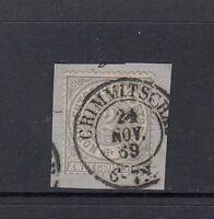 Luxus Altdeutschland Norddeutscher Bund Mi-Nr. 17 gestempelt auf Briefstück