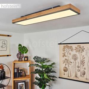 Moderne LED Decken Lampen weiß/Schwarz Schlaf Wohn Zimmer Leuchten eckig Holz