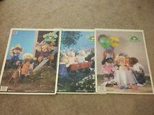 3 Cabbage Patch Kids Puzzles 25 Pieces MB Milton Bradley