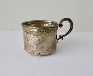 """Sterling Silver Child's Cup w/ Handle~~2"""" Tall~~49.7 Grams"""