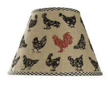 """Lamp Shade - Hen Pecked Print by Park Designs 10"""" & 12"""" - Rooster Chicken"""