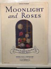 1925 MOONLIGHT AND ROSES ANTIQUE ORIGINAL SHEET MUSIC