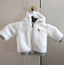 Designer Paul Smith Baby 6M White Shearling Style Hoodie