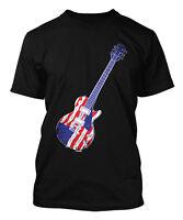 American Flag Guitar - USA Patriotic Men's T-shirt