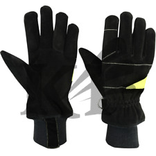 Fire Fighter Gloves Leather Protective Gloves Waterproof Gloves
