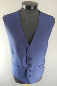 BRAND NEW GARETH SOUTHGATE ENGLAND STYLE BLUE WOOL RICH BLEND WAISTCOAT 36-56 IN