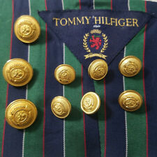 Tommy Hilfiger set/9 Blazer Jacket Replacement Buttons Waterbury Gold Crest