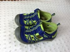 Toddler 7 Motion2-B Sport Sandals Shoes Navy Blue With Lime Green Trim Boys