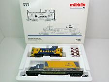 2 Güterwagen der Alaska RR, Bocxar, USA, Märklin H0,4857,SoMo MHI 1993,OVP,CE
