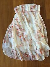 New Kenzo 100% Silk Floral Party Strapless Dress Size 36