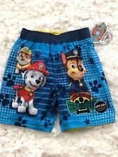 New Paw Patrol Boys Toddler Swim Shorts Trunks Bathing Suit Size 5T