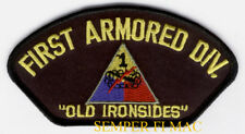 GENERAL PATTON 1ST ARMORED DIVISION OLD IRONSIDES HAT PATCH US ARMY PIN UP WOW