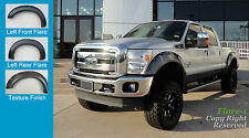 FENDER FLARES RIVET Style 2011-2015 Ford F-250, F-350 Super Duty TEXTURED Fsh