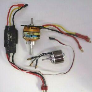 AXI GOLDLINE 2808/24 1190KV MOTOR + ESCAPE &  A2212 Brushless Outrunner Motor