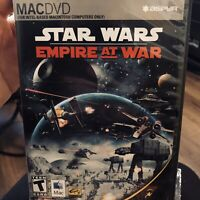 Star Wars Empire at War Apple MAC-DVD Video Game 2007 Complete