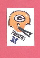 1983 Kellogg's GREEN BAY PACKERS NFL Helmet Sticker Blank Back Version