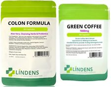 Green Coffee + Colon Cleanse 120 pills fat burner metabolism booster 30 days