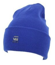 G Star Raw Original Long Beanie Hat in Bright Blue BNWT 100% Authentic